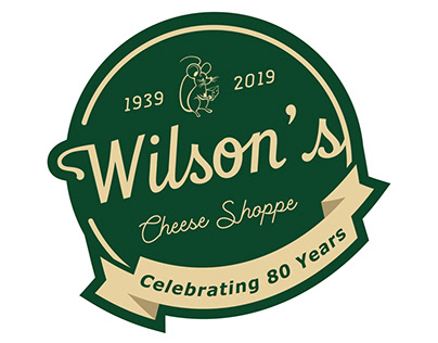 Wilson's Cheese Shoppe 80th Anniversary Logo