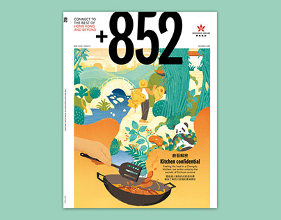 Cover illustration for Hong Kong airlines