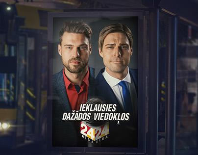 Riga TV24 Print Campaign