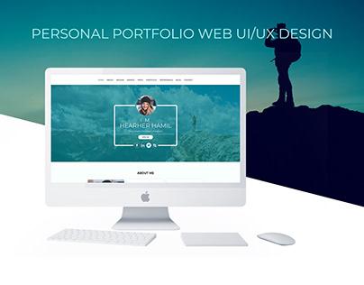 Personal Portfolio web UI/UX Design