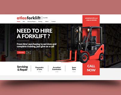 Atlasforklift | Web design