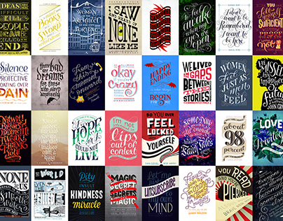 Bookish Lettering