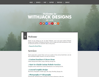 Withjack Designs - 2017 Website