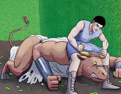 Graphic Novel | THESEUS AND THE MINOTAUR