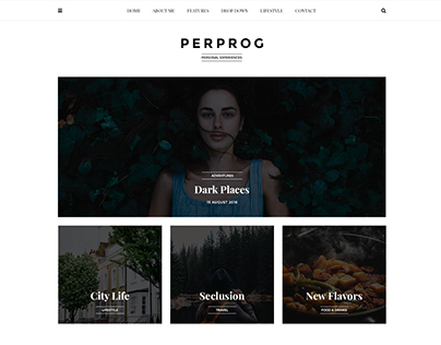 Perprog - Personal Blog PSD Template