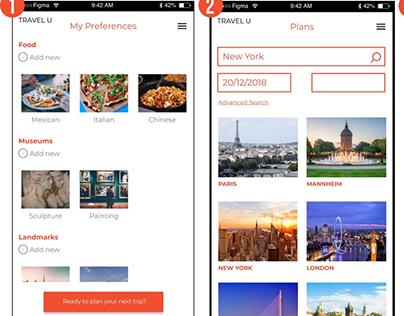 Travel U - App Design