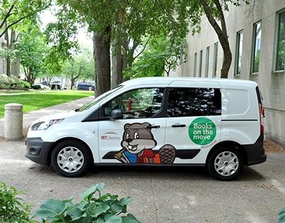 MIT Libraries Books Delivery Van