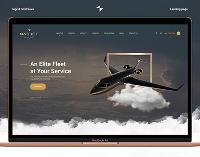 Concept for a company that provides aircrafts for rent.