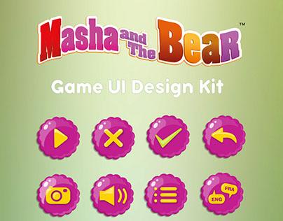 Masha and the Bear Game UI concept