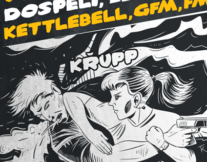 KRAV MAGA flyer illustration, design