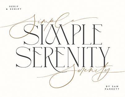 Simple Serenity Serif & Script
