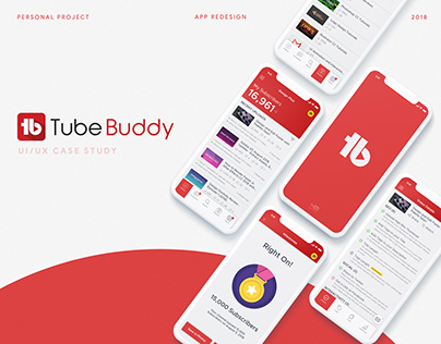 TubeBuddy App Redesign - UI/UX Case Study