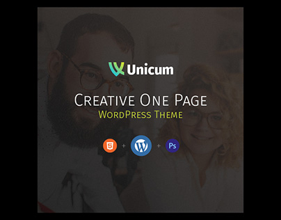 FREE DOWNLOAD - One Page Creative WordPress Theme