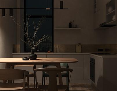 Nordic style kitchen