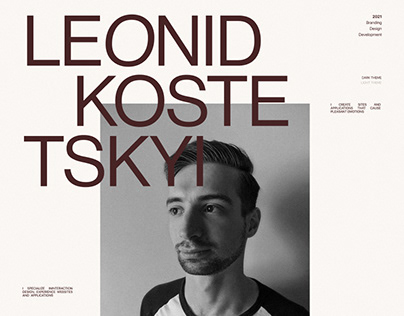 Leonid Kostetskyi Portfolio 2021