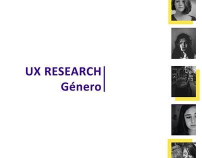 UX RESEARCH - GÉNERO
