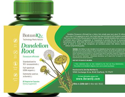 BotanIQ - Dandelion Root - Package Design Mockup