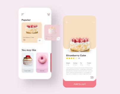 Cake Shop Ecommerce Concept UI Design