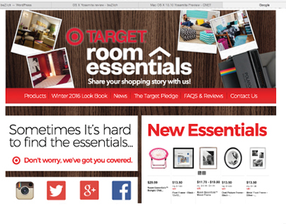 Target Room Essentials Social Media Design