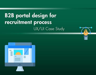 B2B portal design (UI/UX case study)