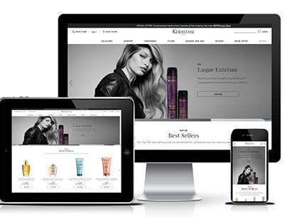 KERASTASE - Ecommerce website in Demandware