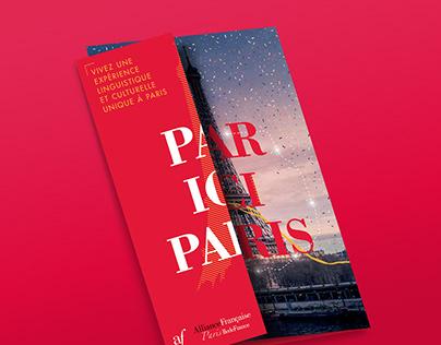 Par Ici Paris: brochure design and print communication