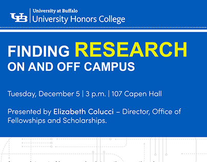Finding Research On and Off Campus Poster