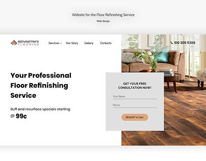 Floor Refinishing Service Website Design