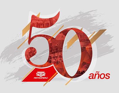 PETROPERU LOGO 50 AÑOS