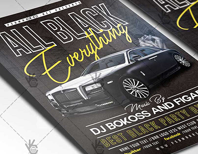 All Black Everything Flyer - PSD Template