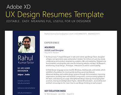 UX Design Resumes