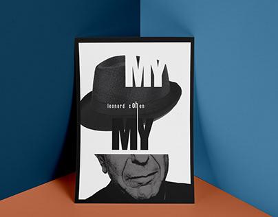 Musical poster Leonard Cohen