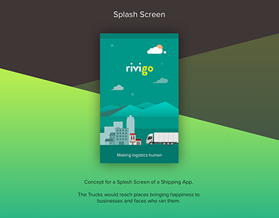 Neat Splash Screen - Shipping App