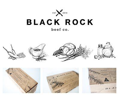 Black Rock Beef co.    Packaging Design
