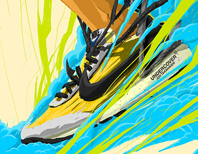 Nike x Undercover Daybreak Sneaker Illustration