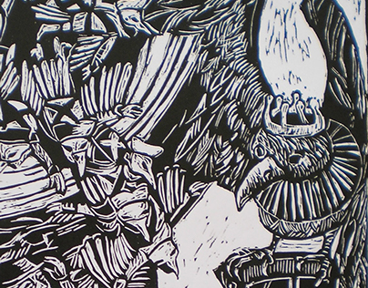 Illustration, lino cut