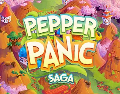 Pepper Panic Saga - Map Art - King