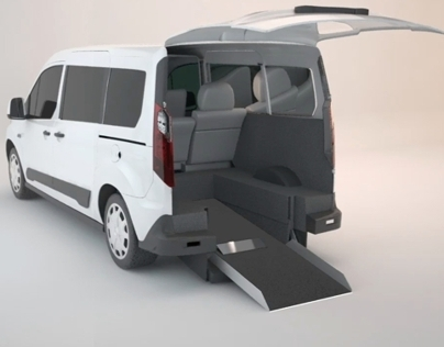 Ford Transit conversion 3D animation for Savaria