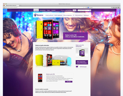 TeliaSonera landing pages for different products