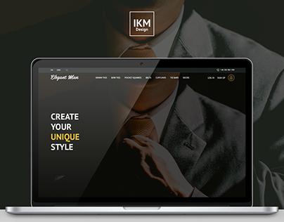 Elegant Man - eCommerce Website Concept