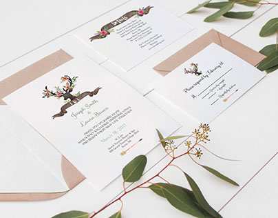 Rustic- Wedding Stationary