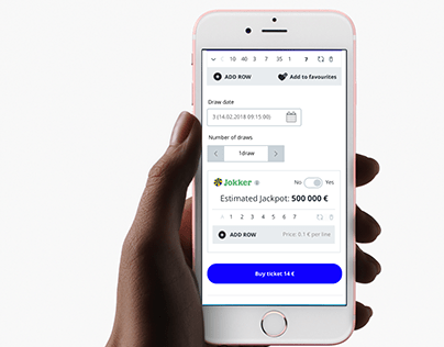 Eesti Loto new mobile web views UX design