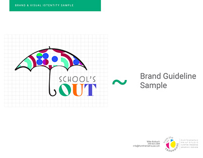 School's Out: a Logo and Brand Guideline sample