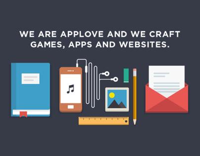Applove's new responsive webpage