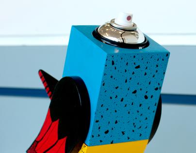 Spray Paint Bird Sculpture