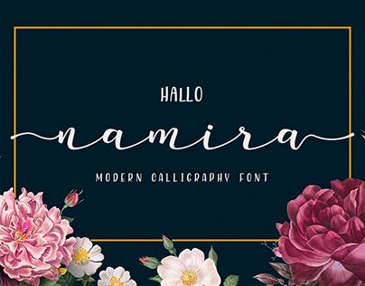 Namira Calligraphy Font