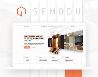 Semodu construction website redesign