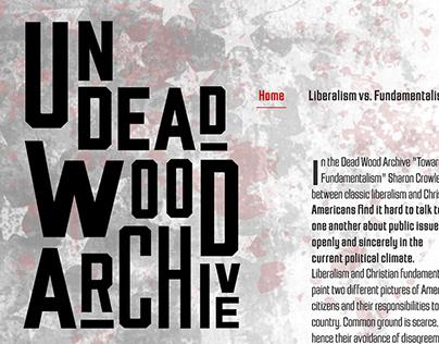 Undeadwood Archive Website Prototype