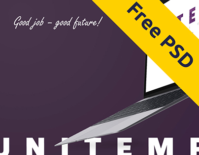 Recruitment company landing page FREE PSD