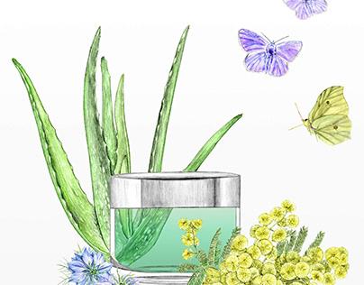 Illustration cosmétique naturel